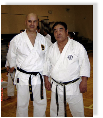 Demura shihan and me at Miami seminar